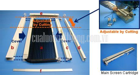 Kết cấu của cửa lưới chống muỗi xếp Việt Thống