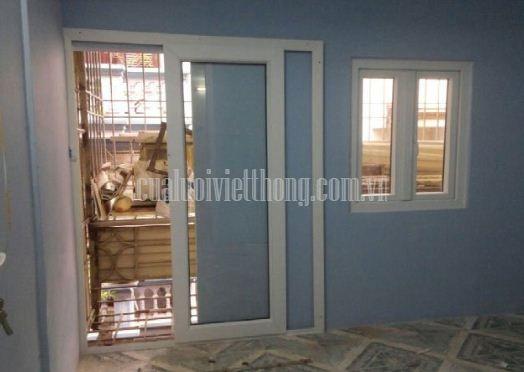 Cửa lưới chống muỗi lùa Việt Thống kết hợp cửa kính 1 cánh tại TPHCM